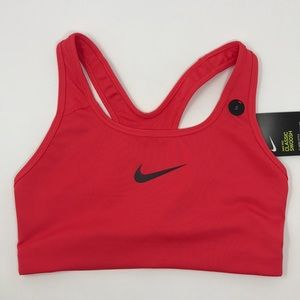 Nike sports bra medium support pink red